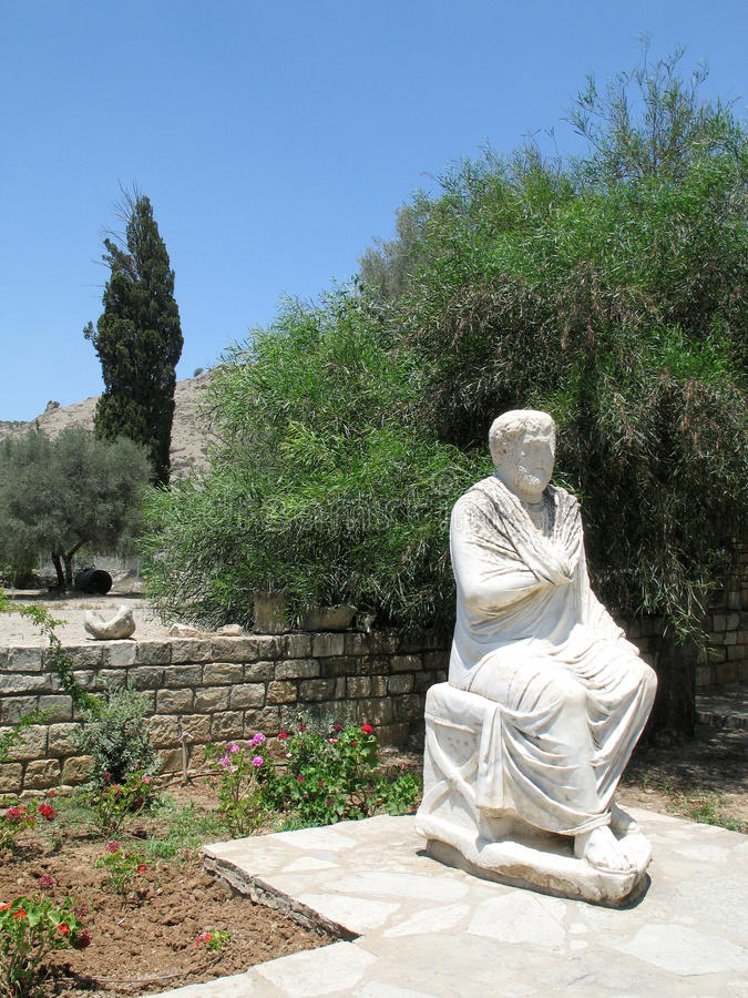 Romersk staty i Gortys fotografering för bildbyråer