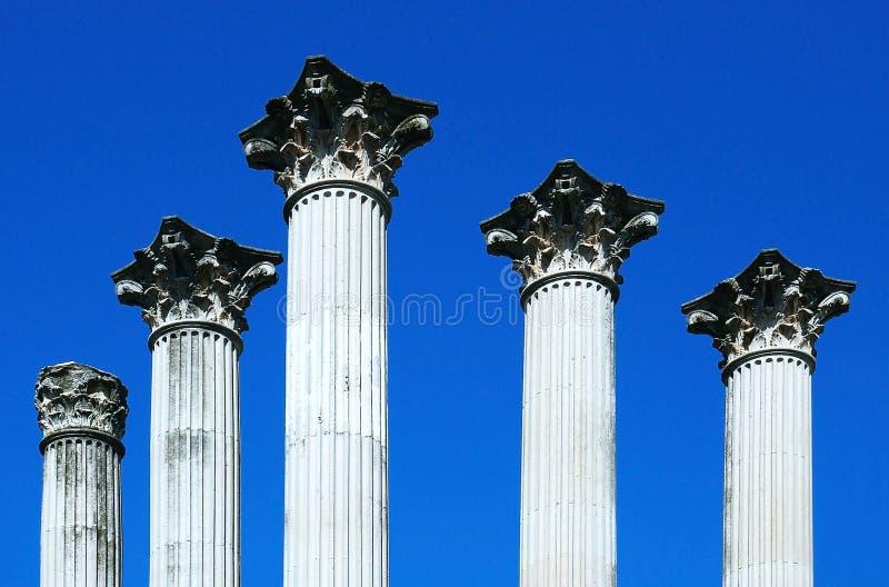 Romersk tempel för kolonner i Cordoba arkivfoton