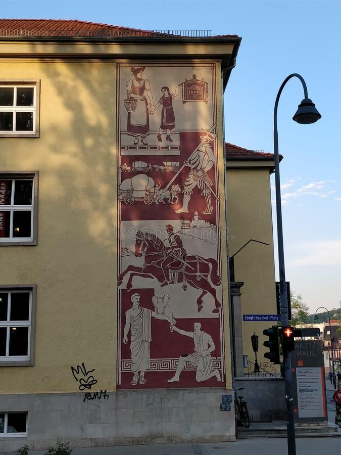 Romersk vägg- gatakonst Tyskland arkivfoto