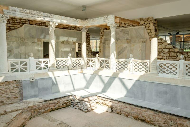 Romersk villa Armira, Ivaylovgrad, Bulgarien royaltyfri bild