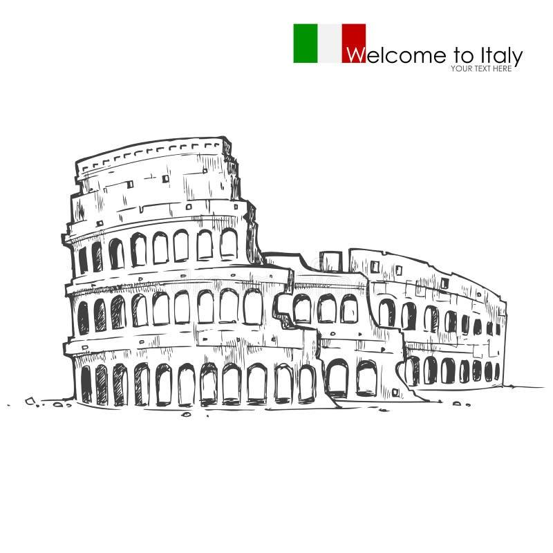 Romerska Colosseum stock illustrationer