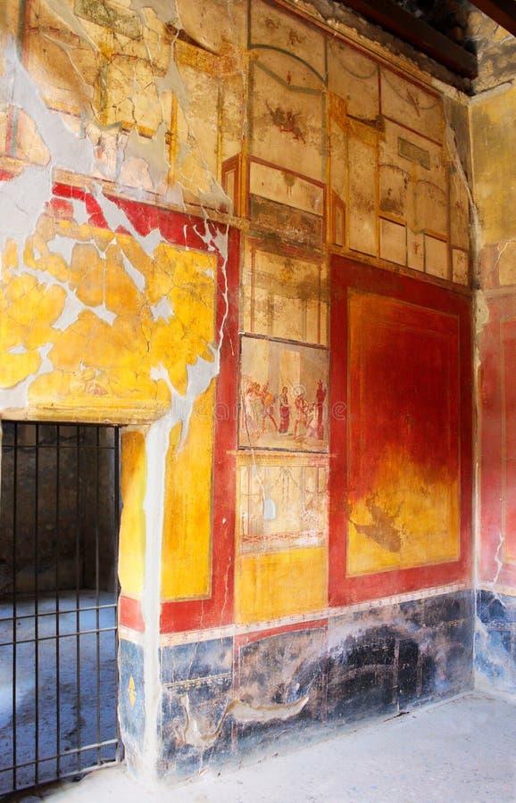 Romerska Konst-VIII-Pompeii-Italien arkivfoton