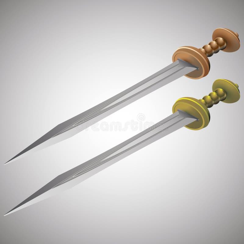 Romerska svärd royaltyfria bilder