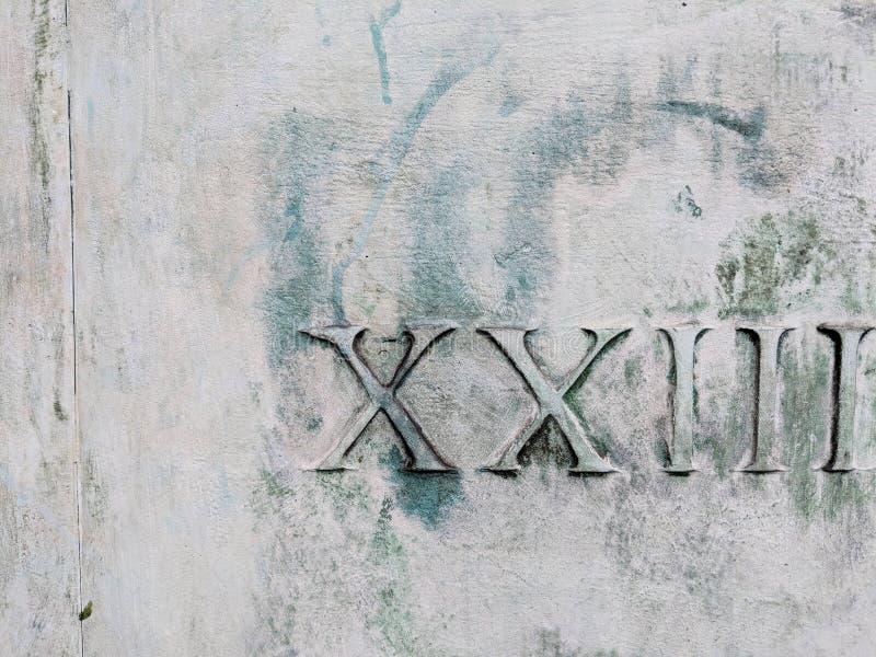 Romerska tal 23 fotografering för bildbyråer