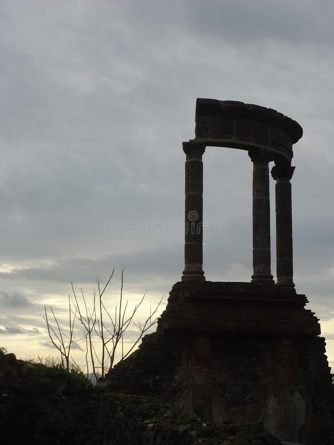 Romerskt fördärvar av pompeii royaltyfri foto