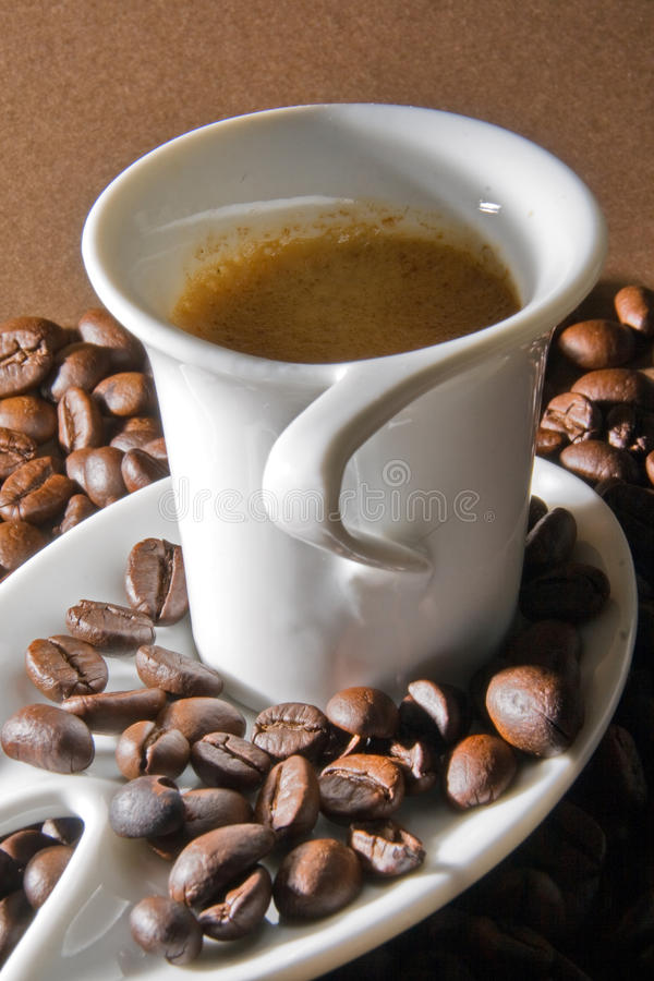 Romige espresso stock foto's