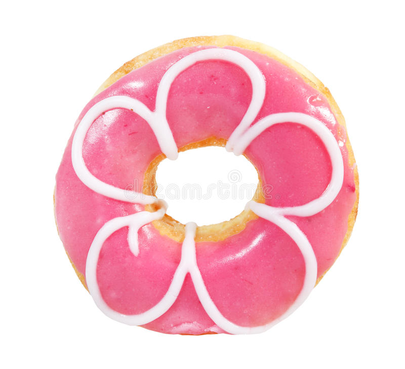 Romige heerlijke geïsoleerded doughnut (doughnut) stock afbeeldingen