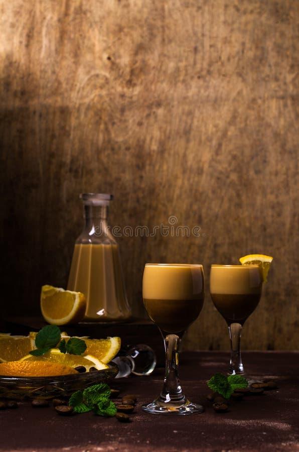 Romige koffielikeur royalty-vrije stock foto