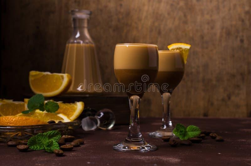 Romige koffielikeur stock foto