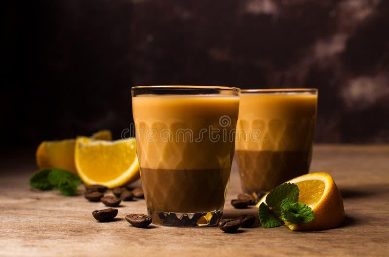 Romige koffielikeur royalty-vrije stock foto's