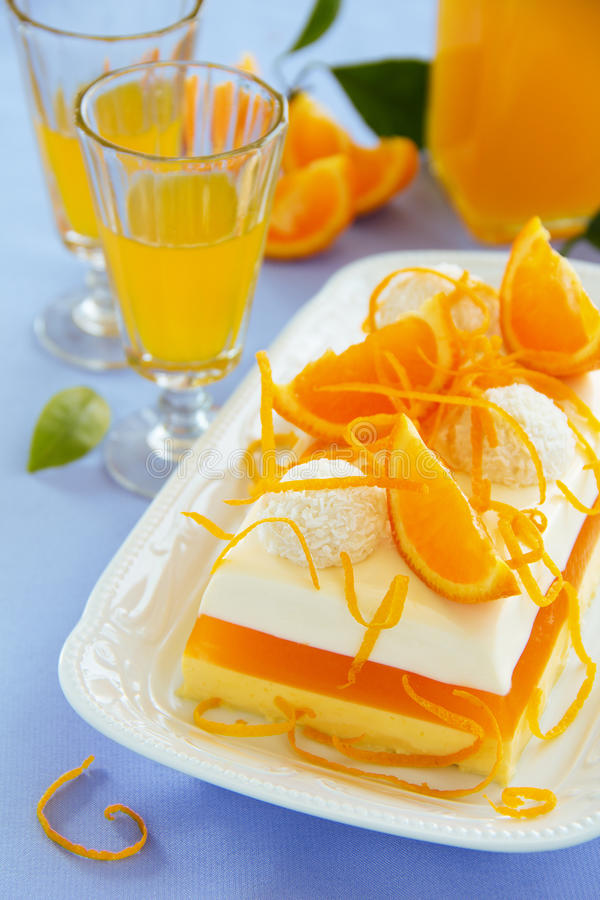 Romige oranje gelei stock foto's