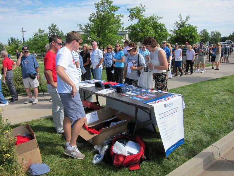 Romney aktion royaltyfri foto