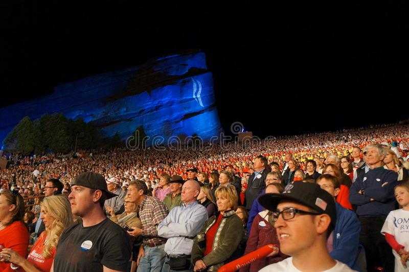 Romney Red Rocks Crowd Editorial Stock Image