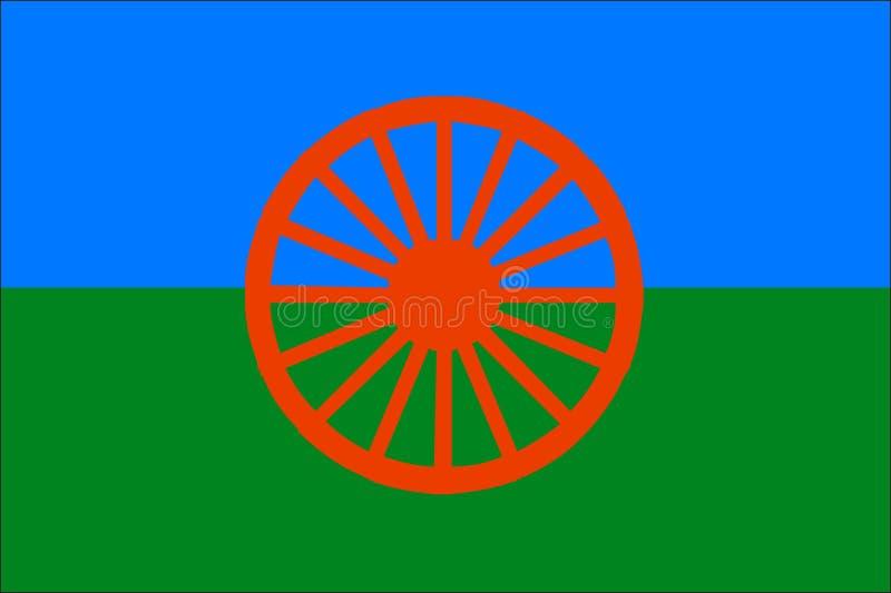 Romowie bandery ilustracja wektor