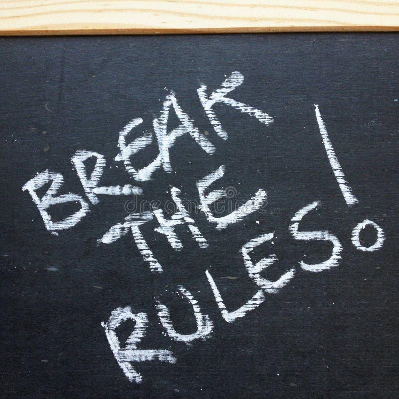 ¡Rompa las reglas! fotos de archivo libres de regalías