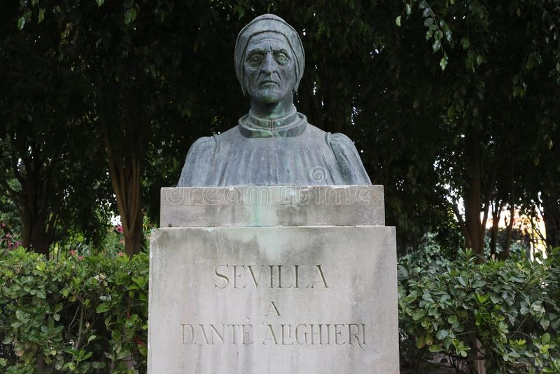 Rompa lo scrittore Dante Alighieri fotografie stock