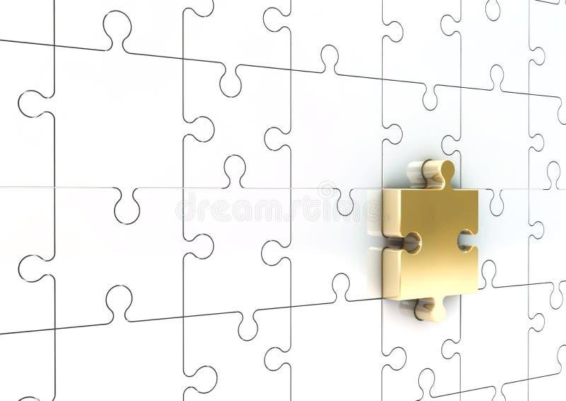 rompecabezas 3D stock de ilustración