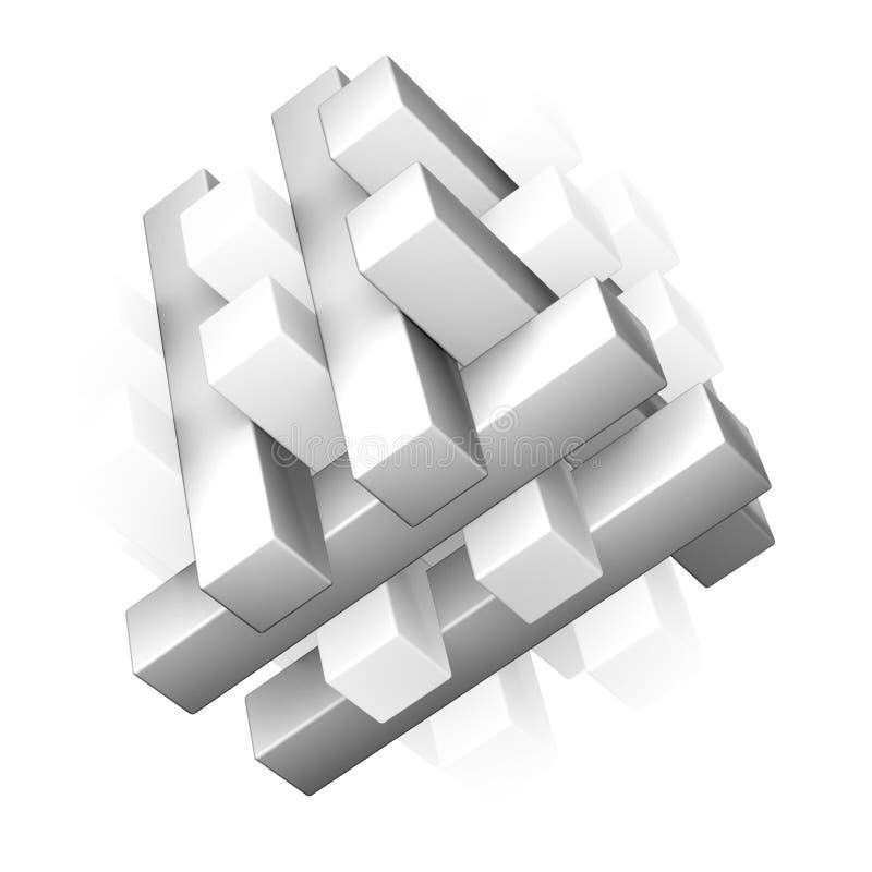 rompecabezas 3D - solucionado fotos de archivo