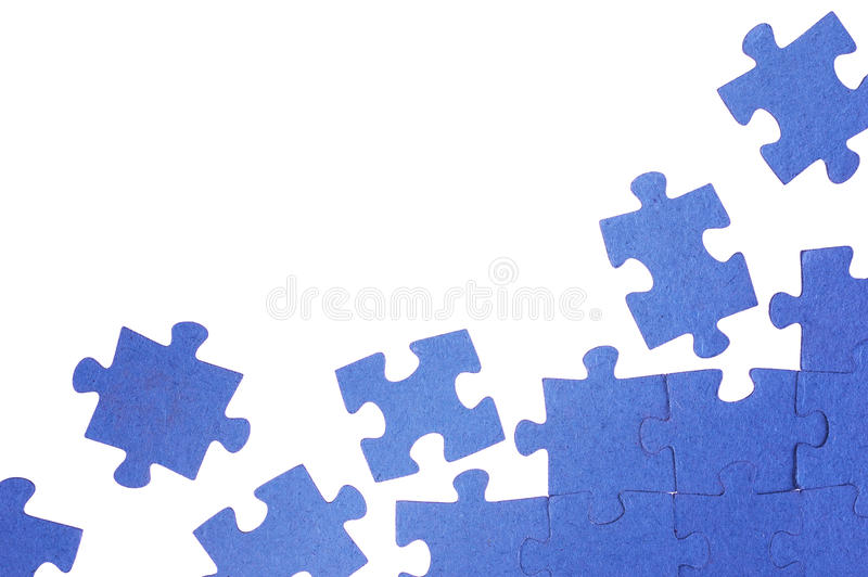 Rompecabezas azul fotografía de archivo