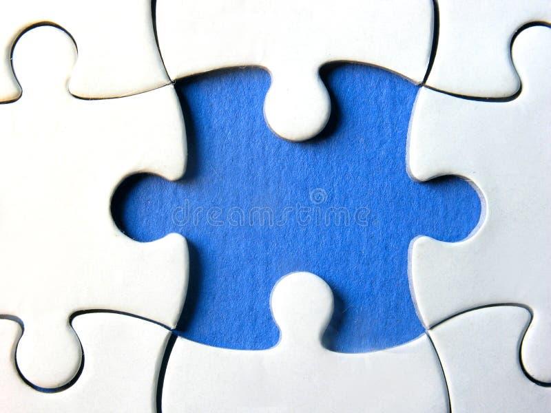 Rompecabezas azul foto de archivo libre de regalías