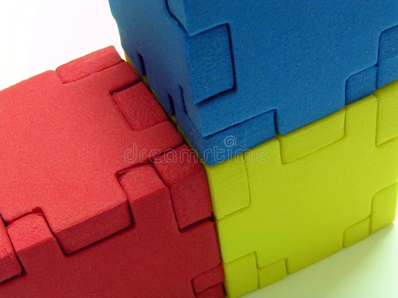 Rompecabezas - color primario fotos de archivo