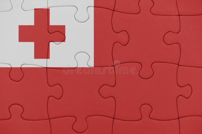 Rompecabezas con la bandera nacional de Tonga foto de archivo libre de regalías