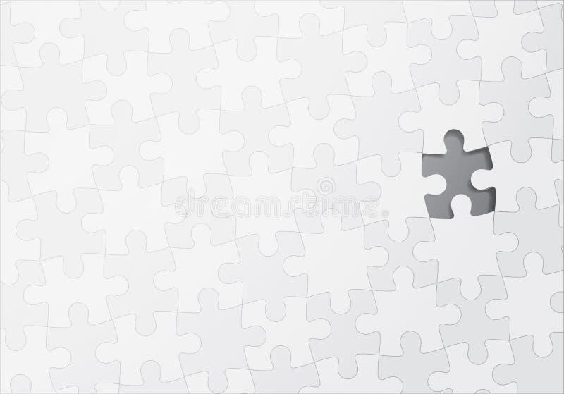 Rompecabezas con un pedazo que falta ilustración del vector