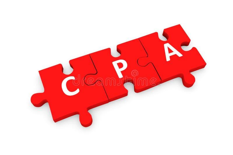 Rompecabezas de CPA conceptual ilustración del vector
