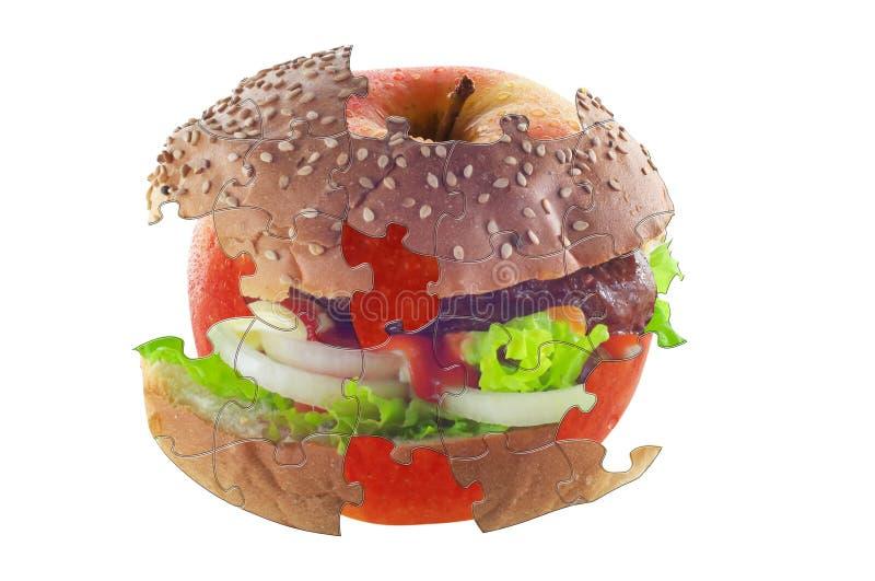 Rompecabezas de la dieta imágenes de archivo libres de regalías