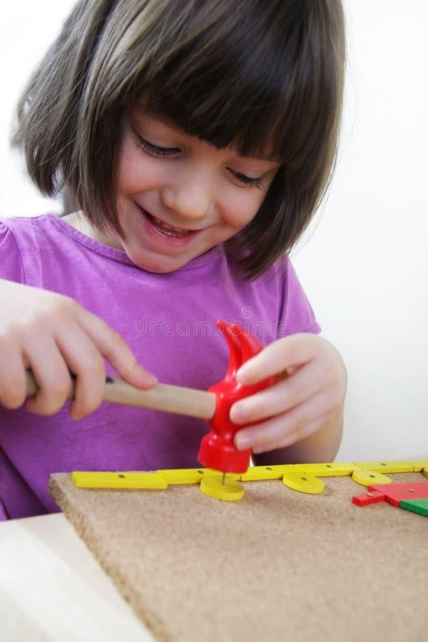 Rompecabezas de Montessori. Preescolar. foto de archivo