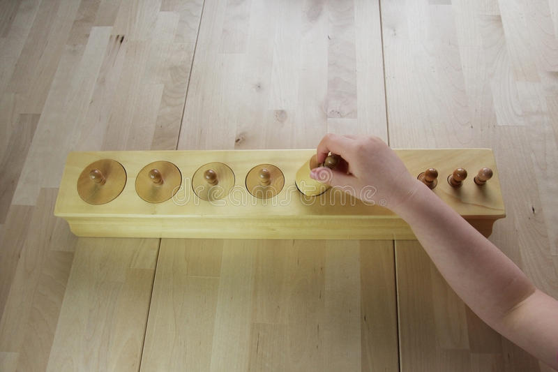 Rompecabezas de Montessori. Preescolar. imagen de archivo libre de regalías
