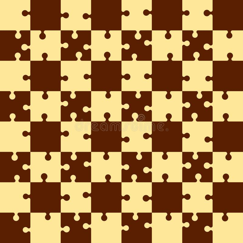 Rompecabezas de rompecabezas Tarjeta de ajedrez Ilustración del vector stock de ilustración