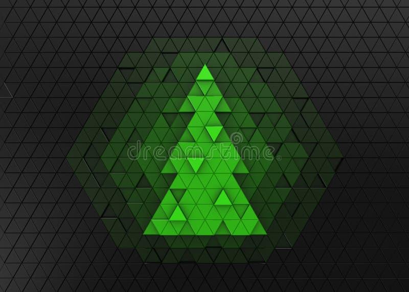 Rompecabezas del árbol de navidad stock de ilustración