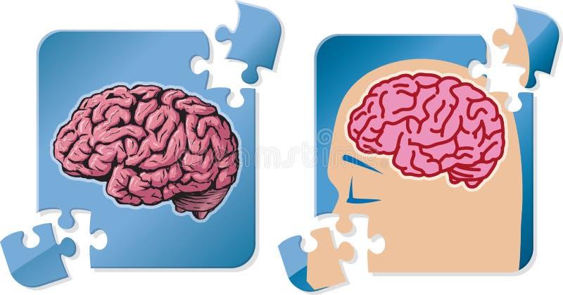 Rompecabezas del cerebro libre illustration