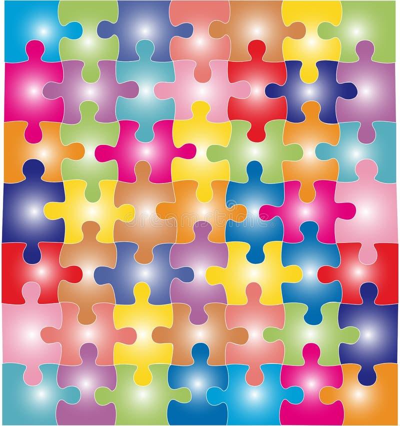 Rompecabezas del color ilustración del vector