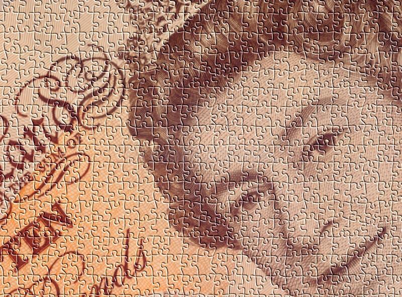 Rompecabezas del dinero en circulación foto de archivo