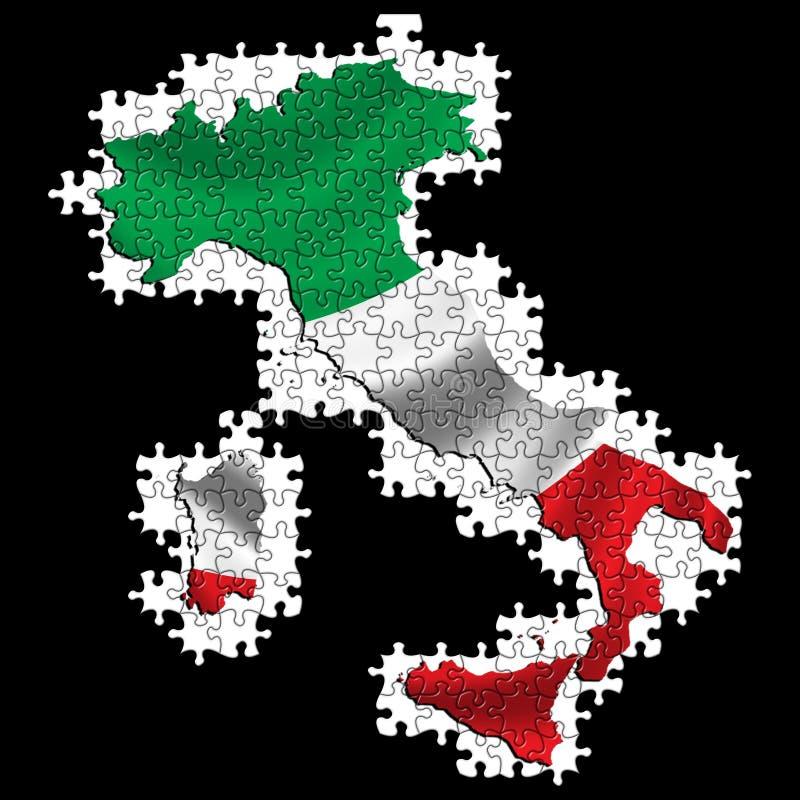 Rompecabezas del indicador de Italia stock de ilustración