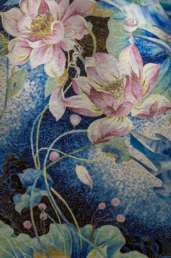 Rompecabezas del mosaico de la charca de Lotus fotografía de archivo libre de regalías