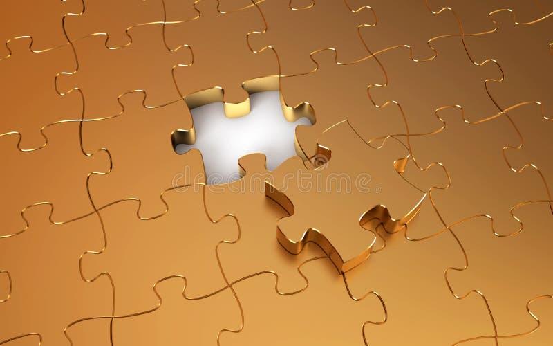Rompecabezas del oro ilustración del vector