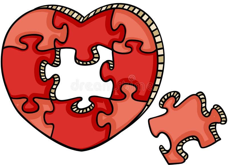 Rompecabezas en forma de corazón libre illustration