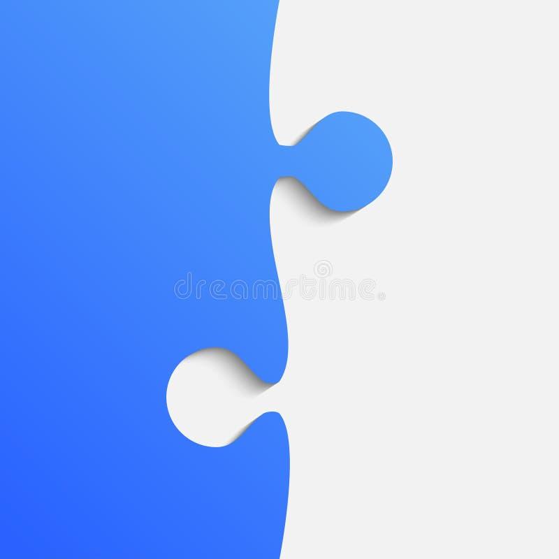 Rompecabezas gris y azul del pedazo Rompecabezas stock de ilustración