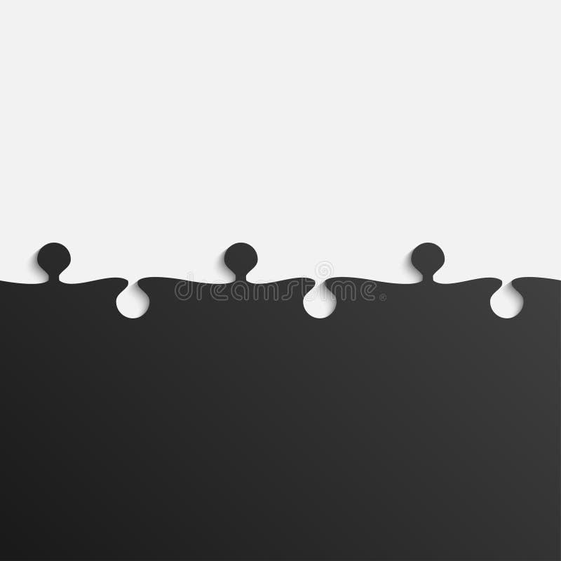 Rompecabezas gris y negro del pedazo Rompecabezas libre illustration