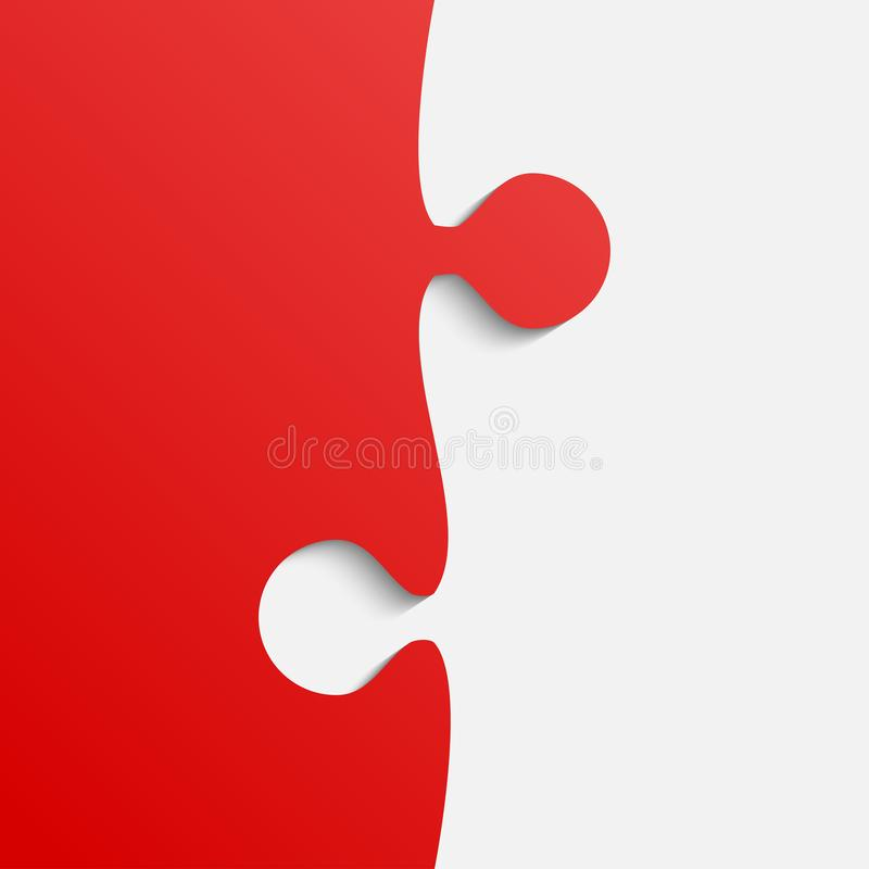 Rompecabezas gris y rojo del pedazo Rompecabezas stock de ilustración