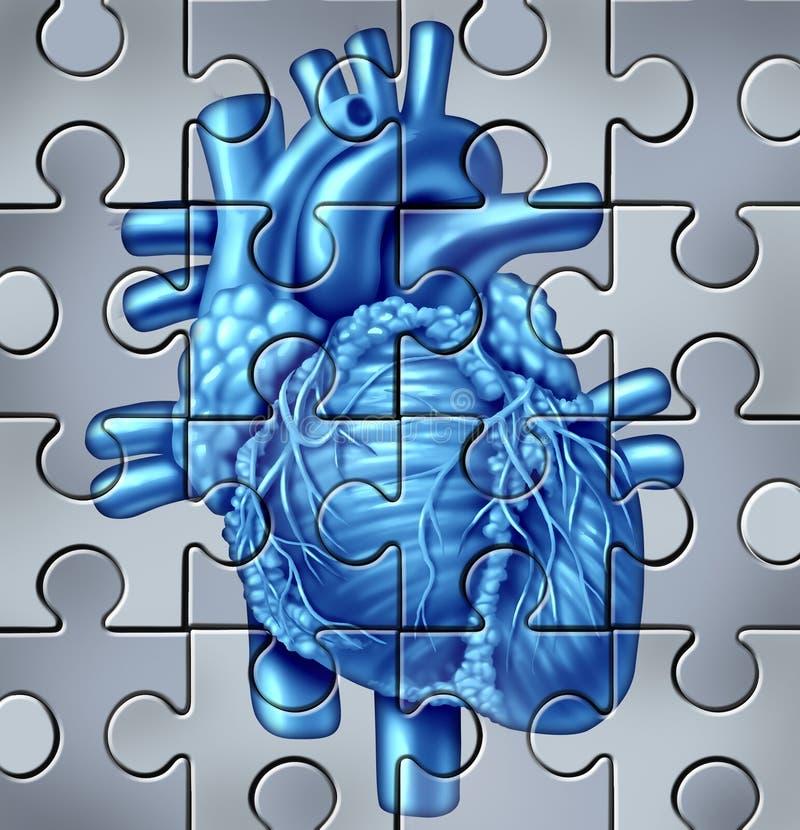 Rompecabezas humano del corazón stock de ilustración