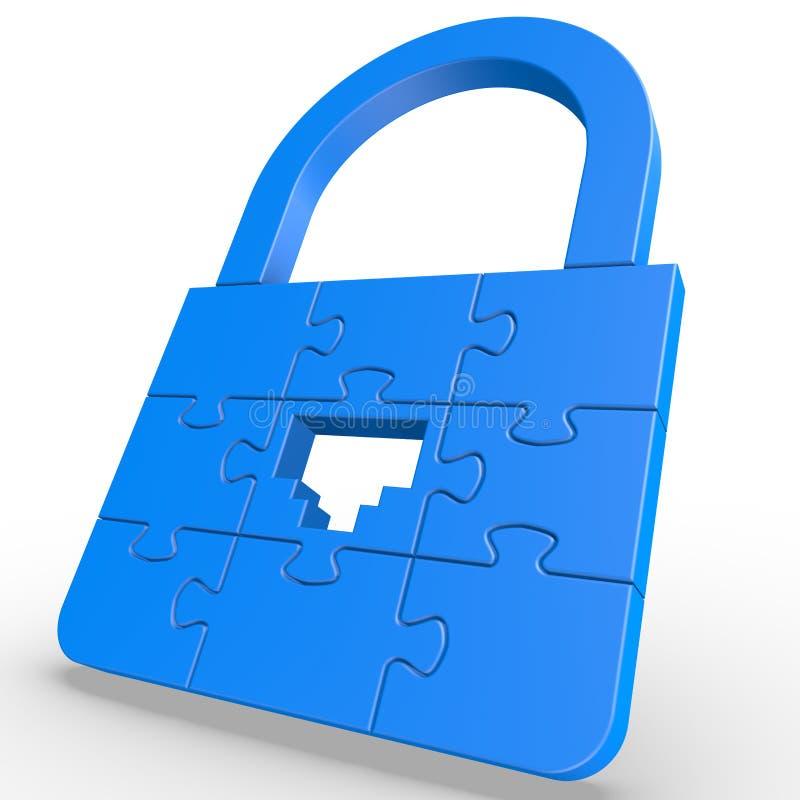 Rompecabezas LAN Lock imagen de archivo libre de regalías
