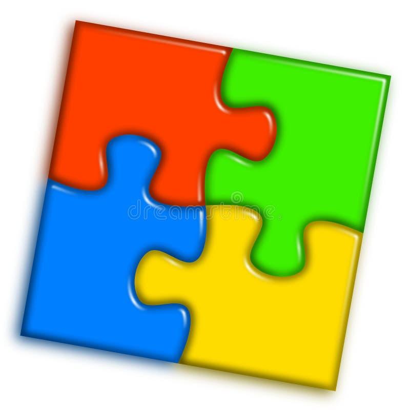 Rompecabezas multicolor combinado 2 ilustración del vector