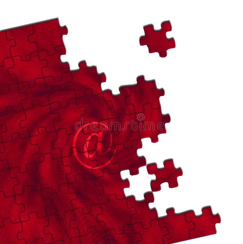 @ rompecabezas rojo fotografía de archivo libre de regalías