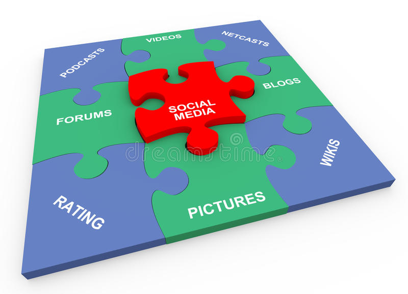 rompecabezas solucionado media sociales 3d libre illustration