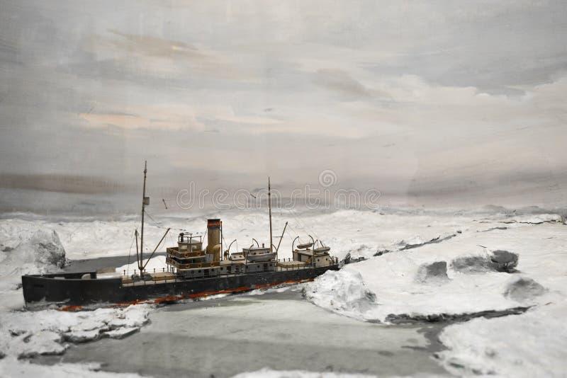 Rompehielos al norte imagen de archivo
