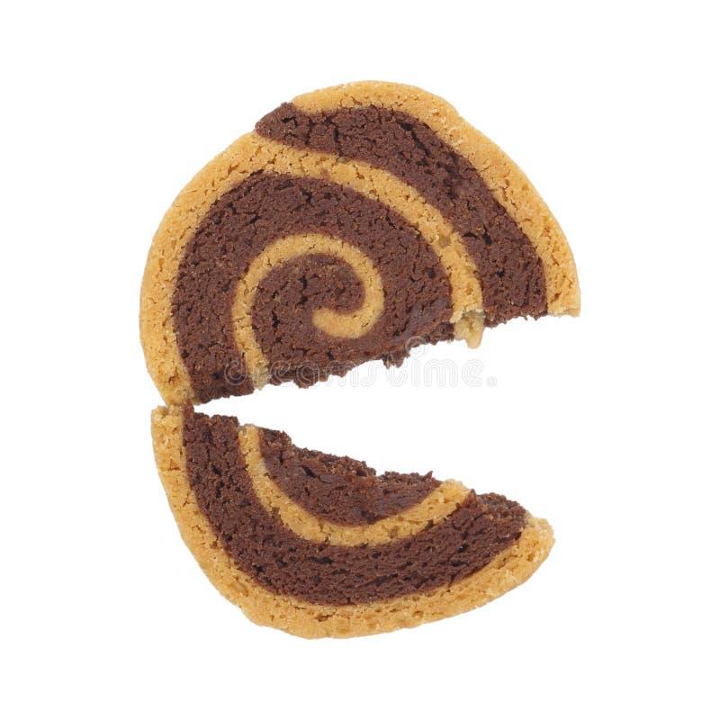 Rompendo biscotto isolato su bianco fotografia stock libera da diritti
